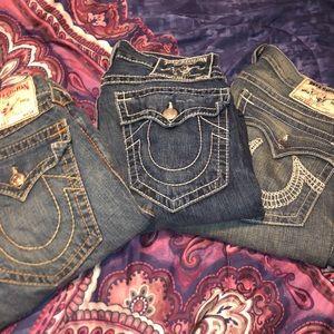 Three pairs of True Religion Jeans!